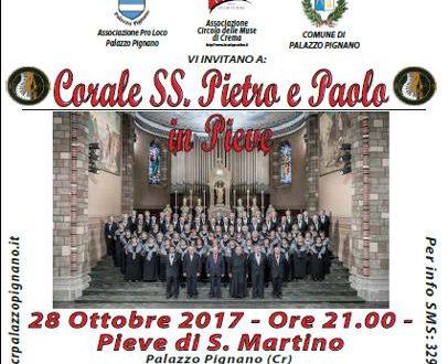 """Palazzo Pignano: sabato 28 ottobre ore 21.00 """"Corale in Pieve"""""""